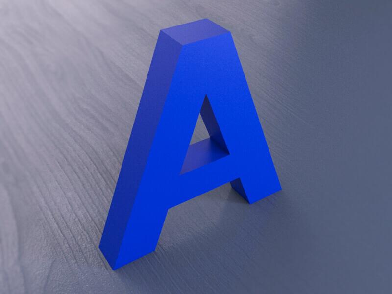 Несветовые объемные буквы