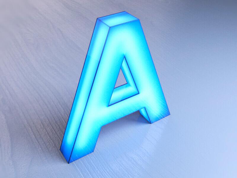 Объемные буквы с полным свечением (боковое и лицевое)